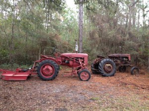 Farmall Super A, so jaunty and red!
